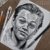Leonardo DiCaprio drawing by Cleicha