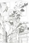 Teen Titans Page 4 Sample - A3 pencil by IgorChakal