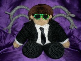 Ottoplushie in black suit by MasterPlanner