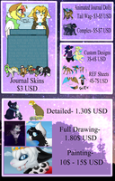Commission Prices (Paypal) by Swift-The-Kitty