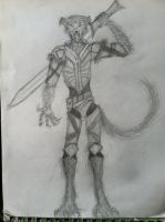Werewolf Persona... warrior person thing by Cafante