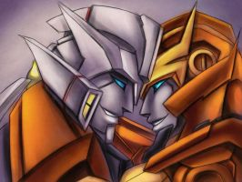 Drift and Rodimus by murr-miay