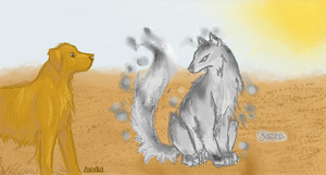 Anubis and Stendal by Datura00
