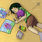 Young Tracy and Venonat by charlot-sweetie
