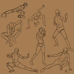 Action poses by Orlilu