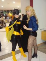 Batgirl and Black Canary by AnaSBertola