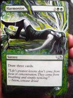 Magic Card Alteration: Harmonize by Ondal-the-Fool