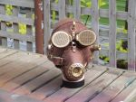 steampunk gas mask by leatheroo