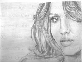 Jessica Alba by DarkGirlDrawings