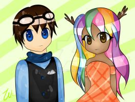 {gift} EthanRPro and Kaleidow by xWisteria