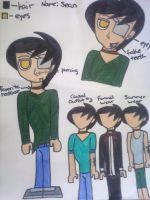 CE: Sean Reference sheet by ronekimew