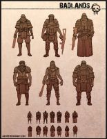 Badlands character variations by Sam-Peterson