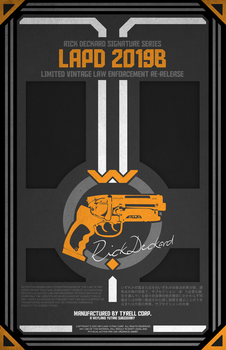 Blade Runner Pistol Poster by TheSnowMouse