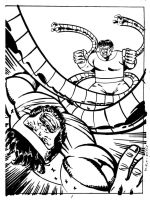 Hercules vs Doc Ock by joeyjarin