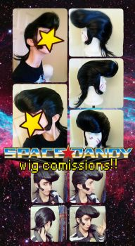 SPACE DANDY wig commissions by 06TATTO