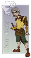Discworld- Sam Vimes smokin' by Bilious