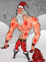 Bad ass santa by Albert-Lopez
