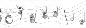 Chibis and music come together. by Tsumikaze