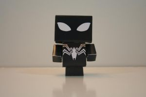 Black Spider-Man (Front) by Mikhaelo-Johanio