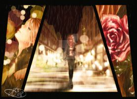 Walking in the Rain by Mallemagic