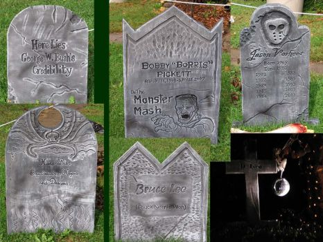 Halloween Tombstones by REBELComx
