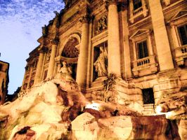 Trevi Fountain by Thishumanbeing