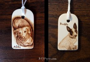 Dogs - Mini Woodburnings by brandojones