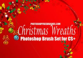 16 Christmas wreaths Photoshop by fiftyfivepixels