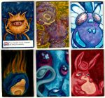 6 Poke Art Cards by Quilsnap