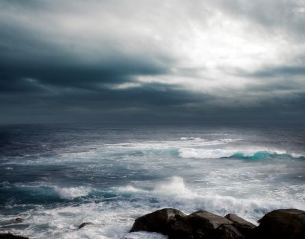 STORM AT SEA BG STOCK I by ArwenArts