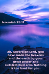 Jeremiah 32:17 (NIV) by ChristCentric