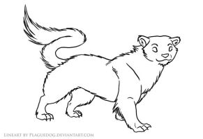 Stoat Lineart by Plaguedog