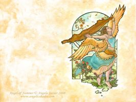 Angel of Summer Wallpaper by AngelaSasser