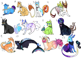 Space dog Point Adoptables CLOSED by hyruchewey