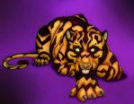 Feral tiger by Victory555