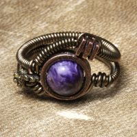 Steampunk ring charoite by CatherinetteRings