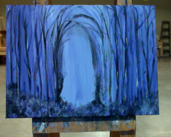Forest at Night (WIP) by Yaesung