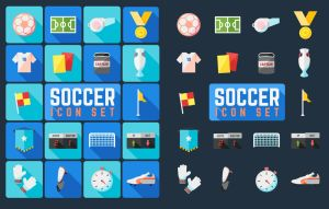 Football Soccer Icon Set by caffeinesoup