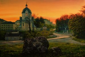 evening town by VityaR83