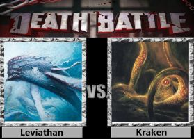 Death Battle - Leviathan VS Kraken by a1236gh