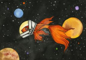 Fish In Spaaaaaace Sketch Fest by NoraBlansett
