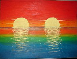Double Sunset by ShelTheDreamer