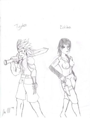 Typhon and Echidna concept art
