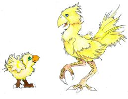 Final Fantasy - Chocobos by Bold-Dragon