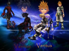 kingdom hearts Vanitas and Ventus by LumenArtist