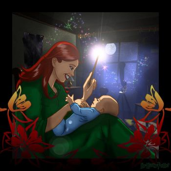Lily Potter and baby Harry by Harry-Potter-Spain