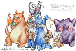 Daniel's pokemon team by mmishee
