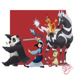 Mulan Pokemon trainer by TheCrownedHeart