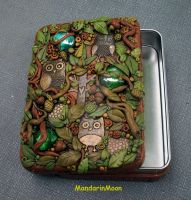 A Parliament of Owls Tin Trinket Box by MandarinMoon