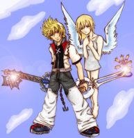 Light Side Roxas and Namine by PlasmaUnicorn